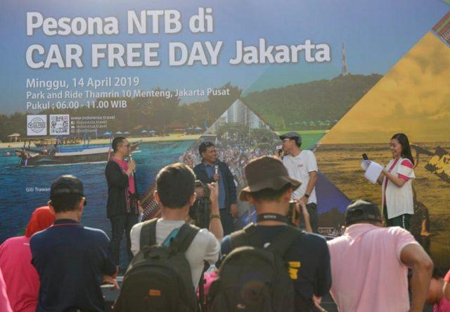 Pesona Wisata Halal NTB Dipromosikan di Car Free Day Jakarta