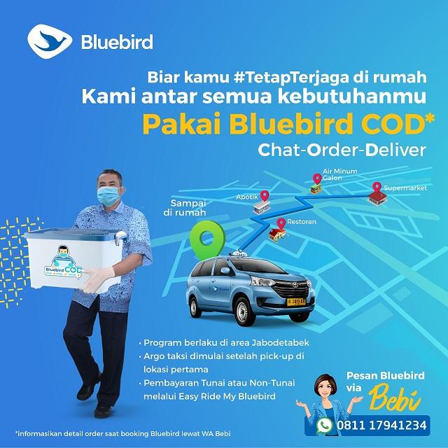 Antisipasi Penyebaran Virus Corona, Bluebird Perkenalkan Program Layanan Bluebird COD
